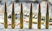 picture of hollow point  - composition with hollow point ammunitions for rifle - JPG