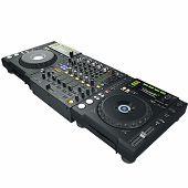 image of mixer  - Digital black dj mixer and cd player - JPG