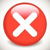 stock photo of restriction  - Red cross X shape - JPG