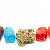 picture of medical marijuana  - Marijuana and Hard Candy Containing Medical Marijuana THC - JPG