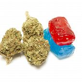 pic of medical marijuana  - Marijuana and Hard Candy Containing Medical Marijuana THC - JPG