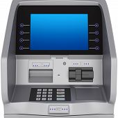 pic of automatic teller machine  - ATM display and keyboard set terminal - JPG