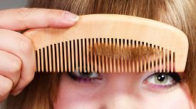 picture of hair comb  - Fashion beauty and haircare concept - JPG