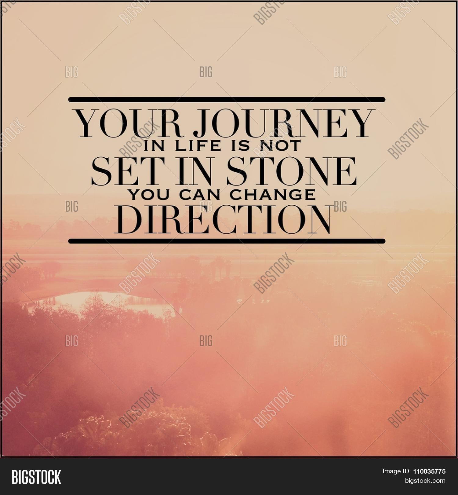 Inspirational Quotes About Lifes Journey Inspirational Typographic Quote  Image & Photo  Bigstock