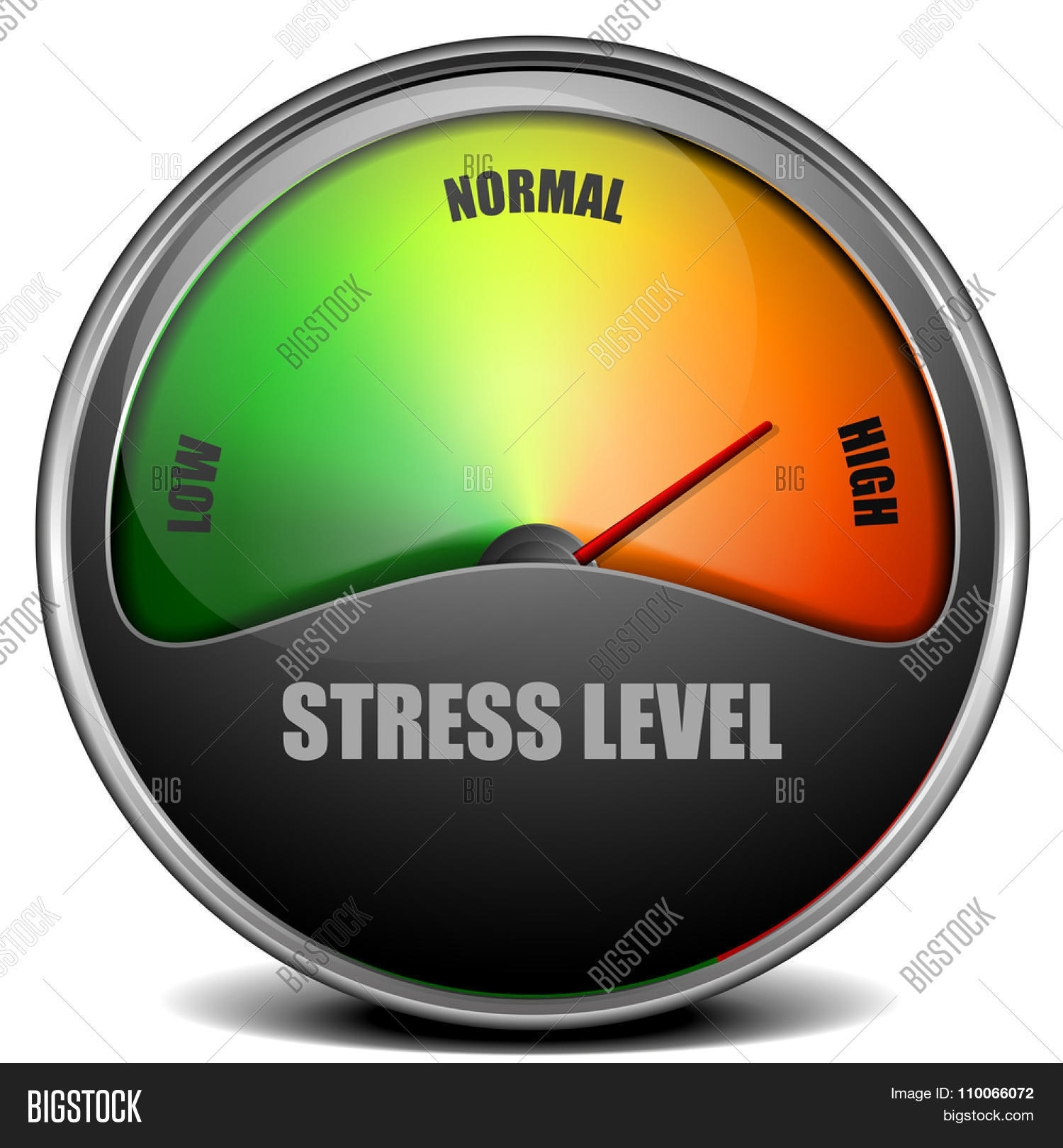 Stress Level Meter : Illustration stress level meter vector photo bigstock