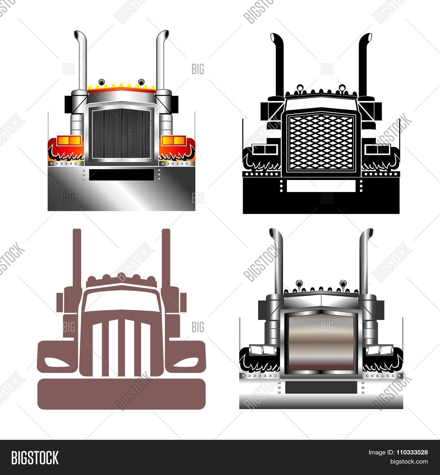Semi Truck Outline Related Keywords & Suggestions - Semi Truck Outline ...