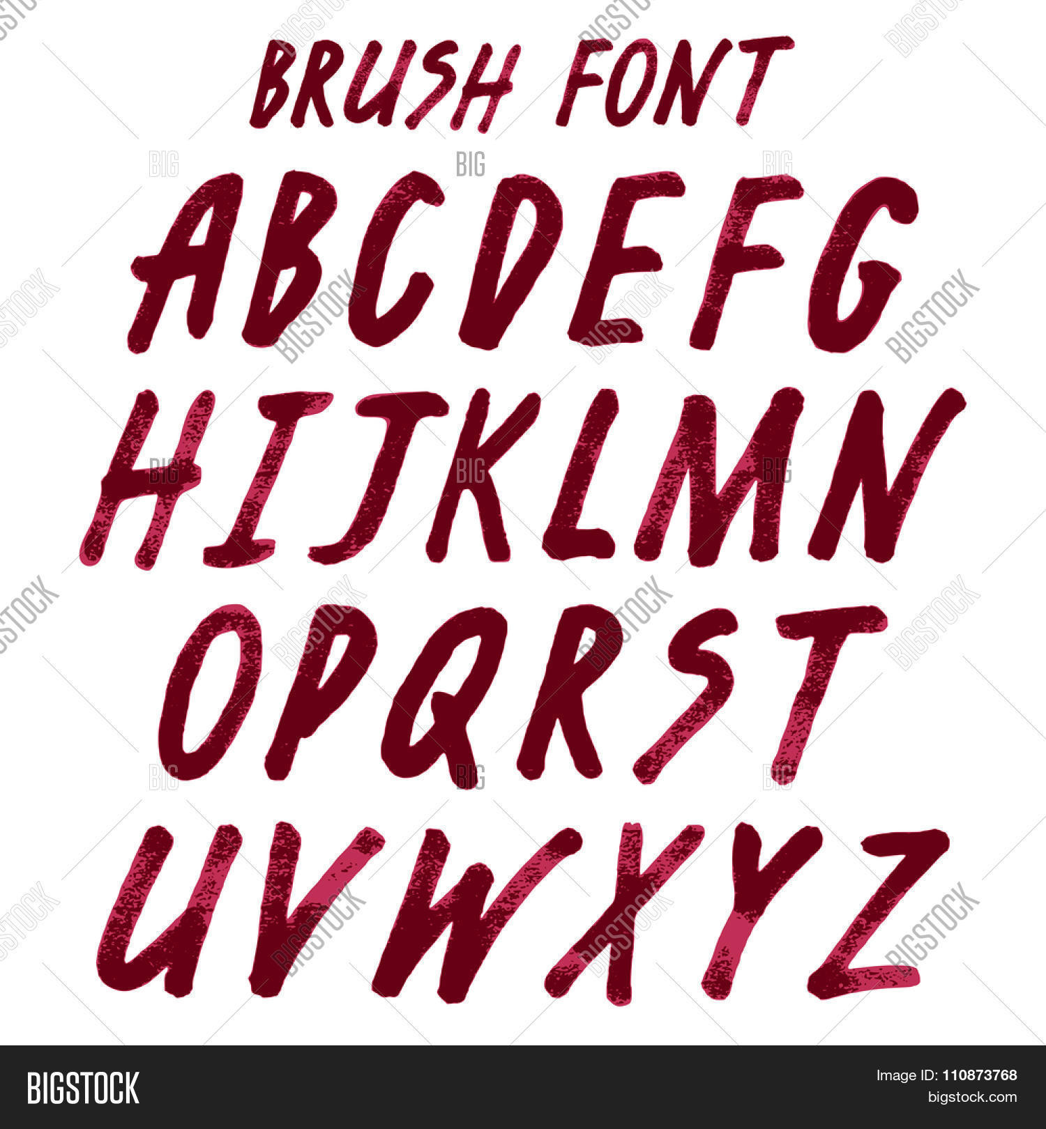 brush handwritten full alphabet vector u0026 photo bigstock