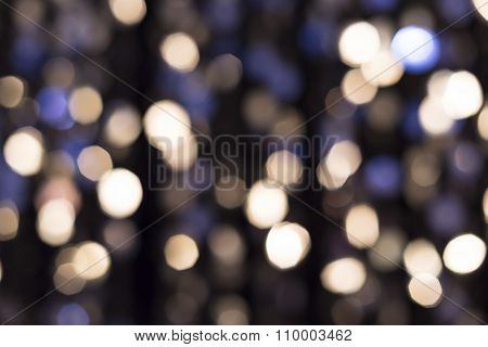 Abstract Glittering Lights, Silver