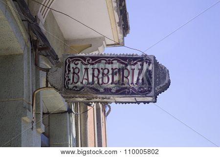 Old Barbershop sign