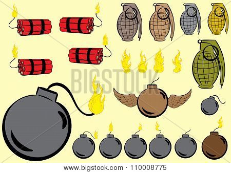 Clipart explosive subjects