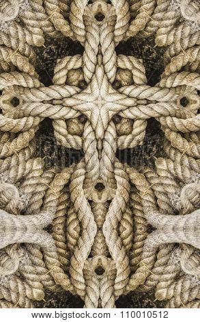 kaleidoscope cross: thick rope