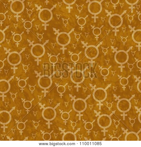 Orange Transgender Symbol Tile Pattern Repeat Background