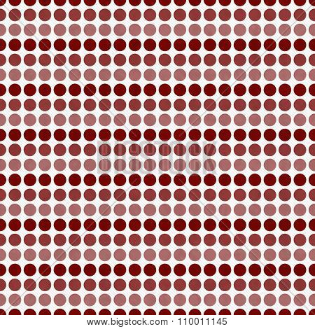 Red And White Polka Dot  Abstract Design Tile Pattern Repeat Background