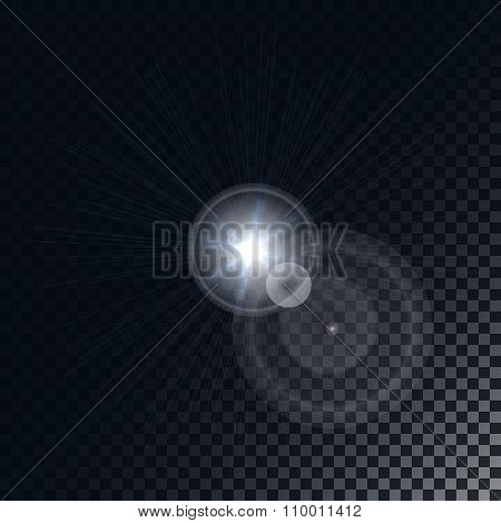 Abstract Lens Flare Lights On Transparent Background