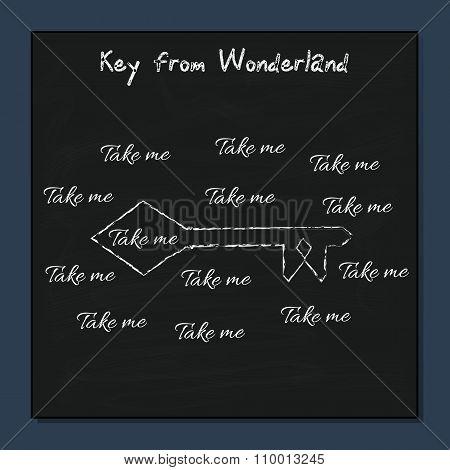 Key from Alice Adventures in Wonderland.