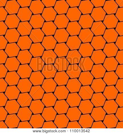 Hexagons  pattern. Seamless geometric texture. Vector art.