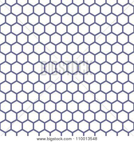 Seamless hexagons texture. Honeycomb latticed pattern. Vector art.