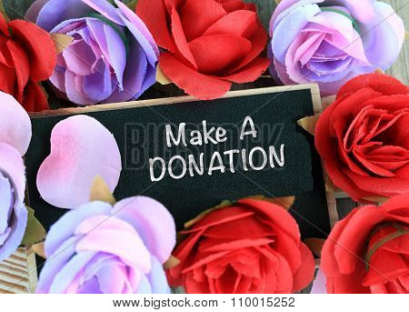 make a donation sign