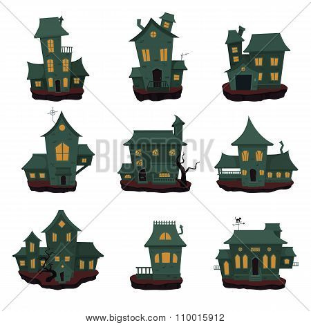 Halloween haunted houses collection.