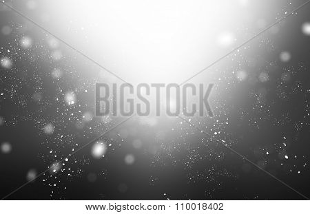 Grey abstract background with bokeh