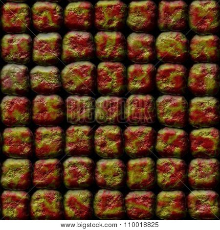 Decorative red-gold stones of different shapes - pattern
