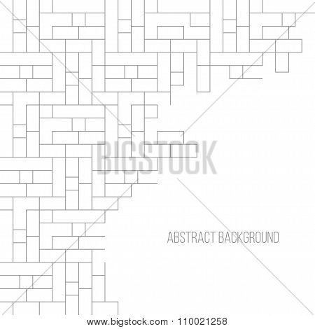 Abstract gray striped geometric background brick wall