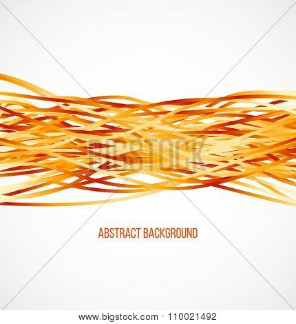Absract orange background with horizontal lines