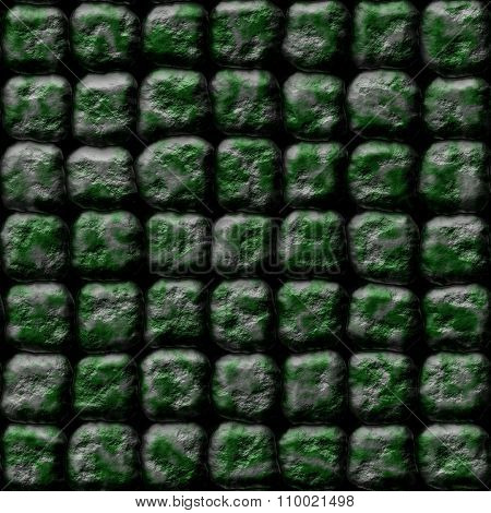 Decorative silver-green stones of different shapes - pattern
