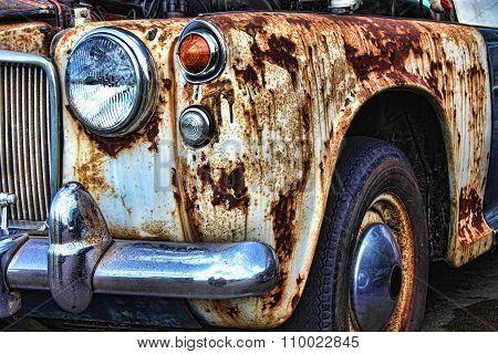 Old rusty vintage car