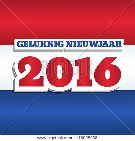 Netherlands Flag 2016