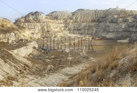 Sand hills landscape