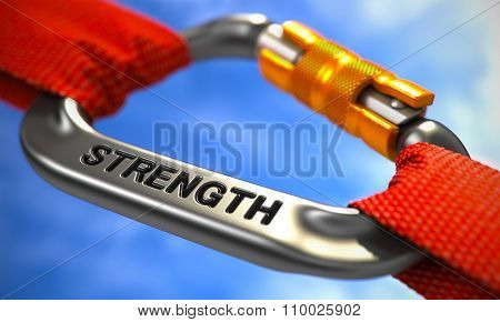 Strength on Chrome Carabine with Red Ropes.