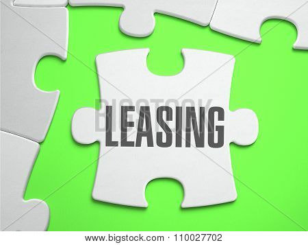 Leasing - Jigsaw Puzzle with Missing Pieces.