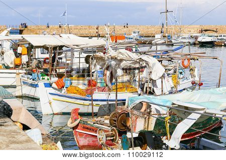 Fishing Boats In Chania