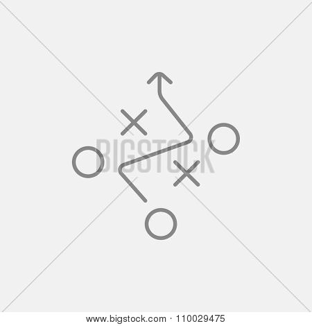 Tactical plan line icon for web, mobile and infographics. Vector dark grey icon isolated on light grey background.