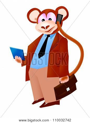 ape businessman