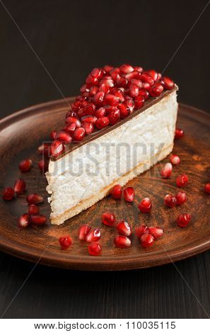 Cheesecake With A Pomegranate Seeds