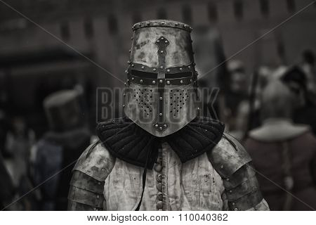 Medieval knights before the battle
