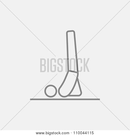 Man doing supported shoulderstand asana line icon for web, mobile and infographics. Vector dark grey icon isolated on light grey background.