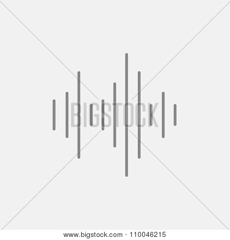 Equalizer line icon for web, mobile and infographics. Vector dark grey icon isolated on light grey background.