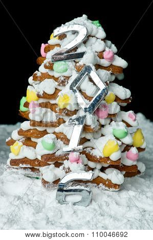 Handmade Gingerbread Christmas Tree