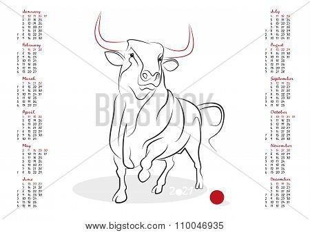 Calendar 2021 The Year Of The Ox