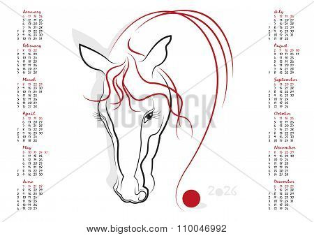 Calendar 2026 The Year Of The Horse