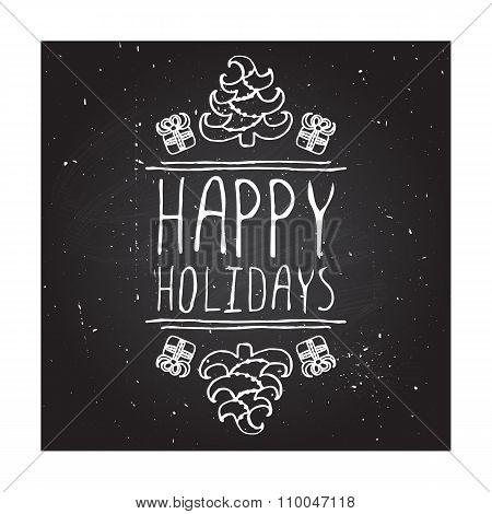 Happy holidays - typographic element