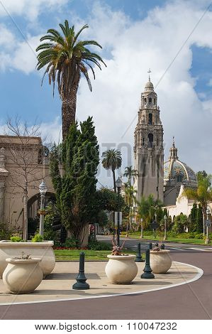 San Diego, Ca/usa - Circa January 2015: Tower Of Museum Of Man, El Prada, Balboa Park In San  Diego
