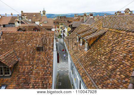 City Roofs In Murten (morat)