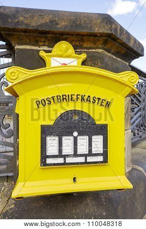 Dresden, Painted Yellow Mailbox