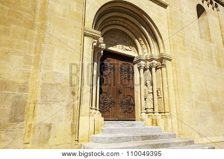 The Side Door To The Collegiate Church, Neuchatel