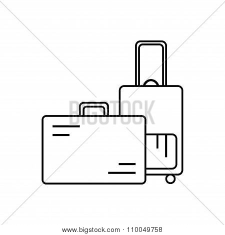 Baggage. Isolated baggage icon on white background.