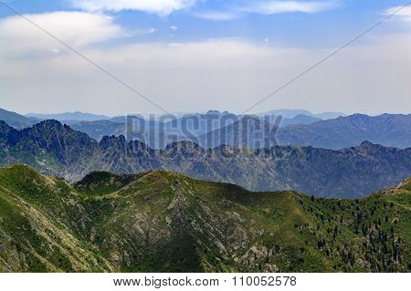 Mountain Inspirational Landscape In Corsica, France